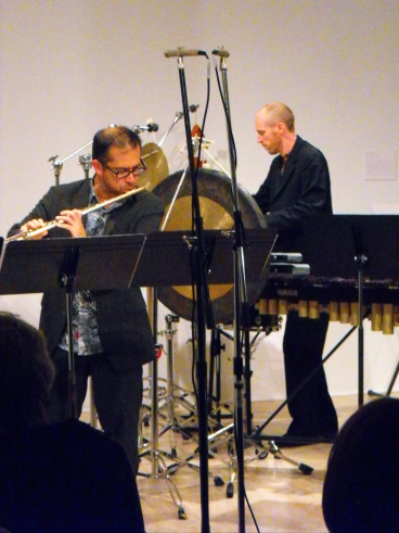 Mark Takeshi McGregor, flute; Brian Nesselroad, percussion.