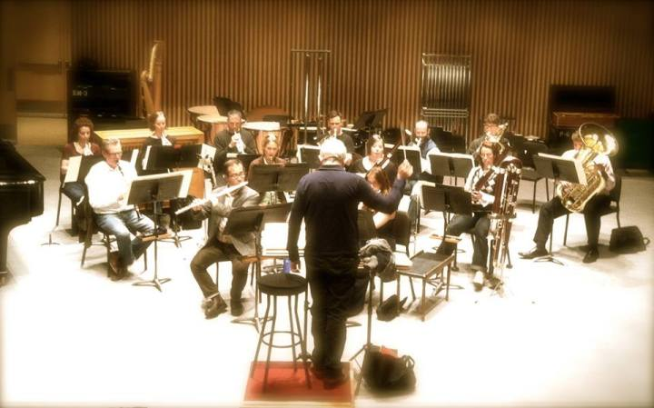 Performing with the VSO, Bramwell Tovey, conductor.