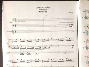 A peek at the score of one of Lizée's Tarantino Études
