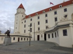 Bratislava Castle, which overlooks the city.