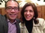 With composer Natalia Solomonoff, whose piece, en cueros, I premiered at the symposium